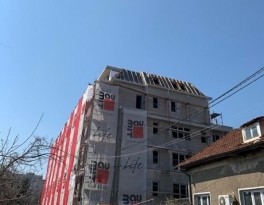 Finishing works on a residential building in Nadezhda